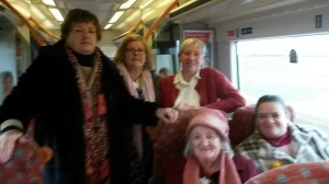 On the train going to Halesworth