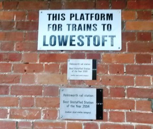 This platform is for Lowestoft